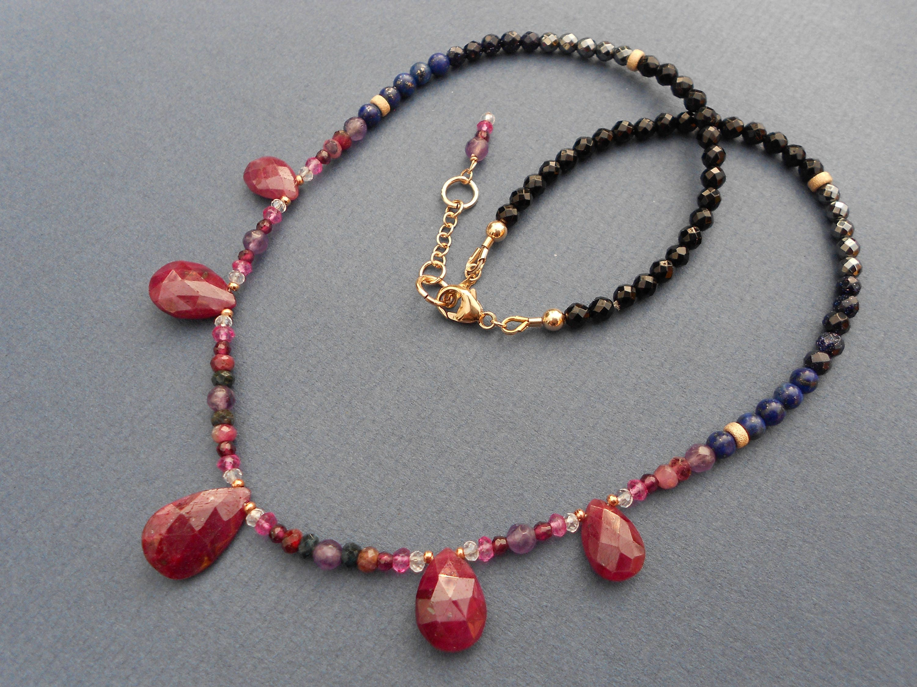gem multi gold gemstone necklaces link for sale at id jewelry vintage j org necklace