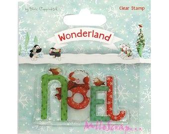 Stamp transparent Word Christmas paper scrapbooking 3 (ref.110). *.