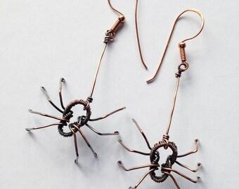 Dangle Spider Earrings