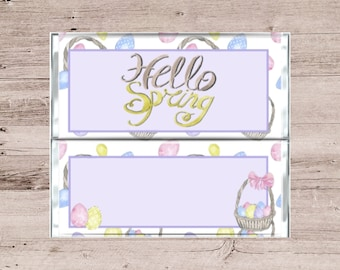 Spring Chocolate Bar Wrapper-Easter Candy Bar Wrapper-Easter Egg Basket Chocolate Bar Wrapper-Spring Candy Bar Wrapper-Easter Chcolate