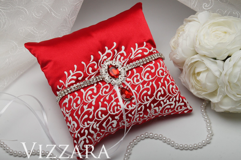 Ring bearer pillow Red weddings Ring bearer pillow ideas Red