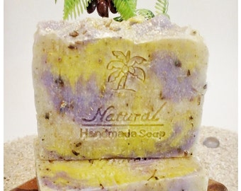 Lavender Chamomile Soap / All Natural Soap / Essential Oil Soap / Natural Soap / Antibacterial Soap / 5oz bar soap / Vegan Soap / face soap