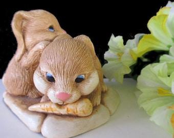 PENDELFIN Rabbit Figurine * Rabbit With Carrot * United Kingdom Figurine * PRINCESS HOUSE Rabbit Decor