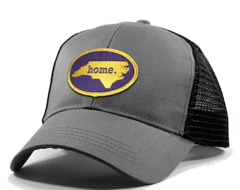Homeland Tees North Carolina Home Trucker Hat - Purple and Gold Patch