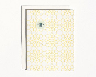 Honeycomb Flower Stationery Set : Boxed Set of 8 Blank Everyday Stationery Cards + Envelopes