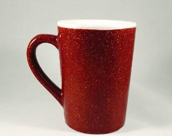 Orange Glitter Mug Cup - 14 Oz.