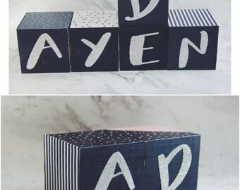 Wooden Block/Cube for Nursery/kids room decor