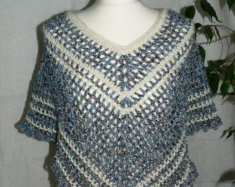 Crochet Poncho, Cowl Neck Poncho, Black Poncho, Boho Poncho, Crochet Clothing, Turtleneck Poncho, Cowl Poncho, Womens Poncho, Knit Poncho