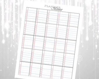 Lined Notebook Paper Printable Stickers for Erin Condren ECLP, MAMBI Happy Planner, etc