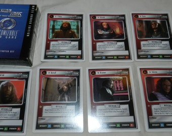 90 Star Trek The Next Generation TNG - Customizable Card Game cards with instruction booklet by Decipher Inc. - Klingons, Vulcans ...   11-9