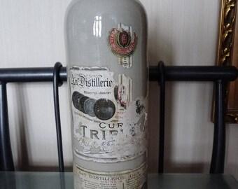 Vintage French Ceramic Bottle