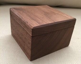Walnut jewelry box Etsy