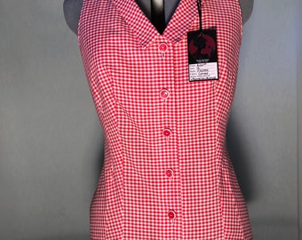 Oligoclose: Fitted v-neck button up blouse, size 10