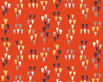 1/2 Yard Organic Cotton Fabric - Wildland Arrowhead Tomato