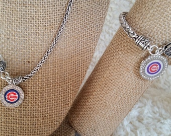 Cubs, Black Hawks, Bears White  Sox bracelets and necklaces ( please specify in notes)