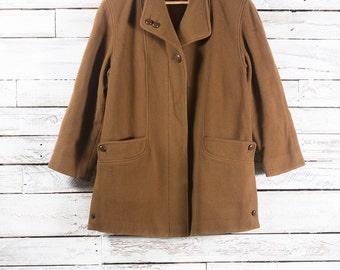 Winter wool coat | Vintage long winter jacket | Women winter coat | Vintage wool jacket | Winter wool jacket | Brown coat