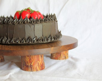 Rustic cake plate, Rustic cake stand, Rustic wedding cake stand, Wood cake stand,  Rustic cupcake stand, grooms cake, Birthday cake stand