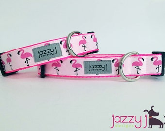 Flirty Flamingo Summer Dog Collar