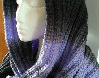 Broad Infinity Scarf - Multi-functional as Hooded Scarf, Snood, Scarf