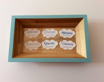 Baby favor box tickets