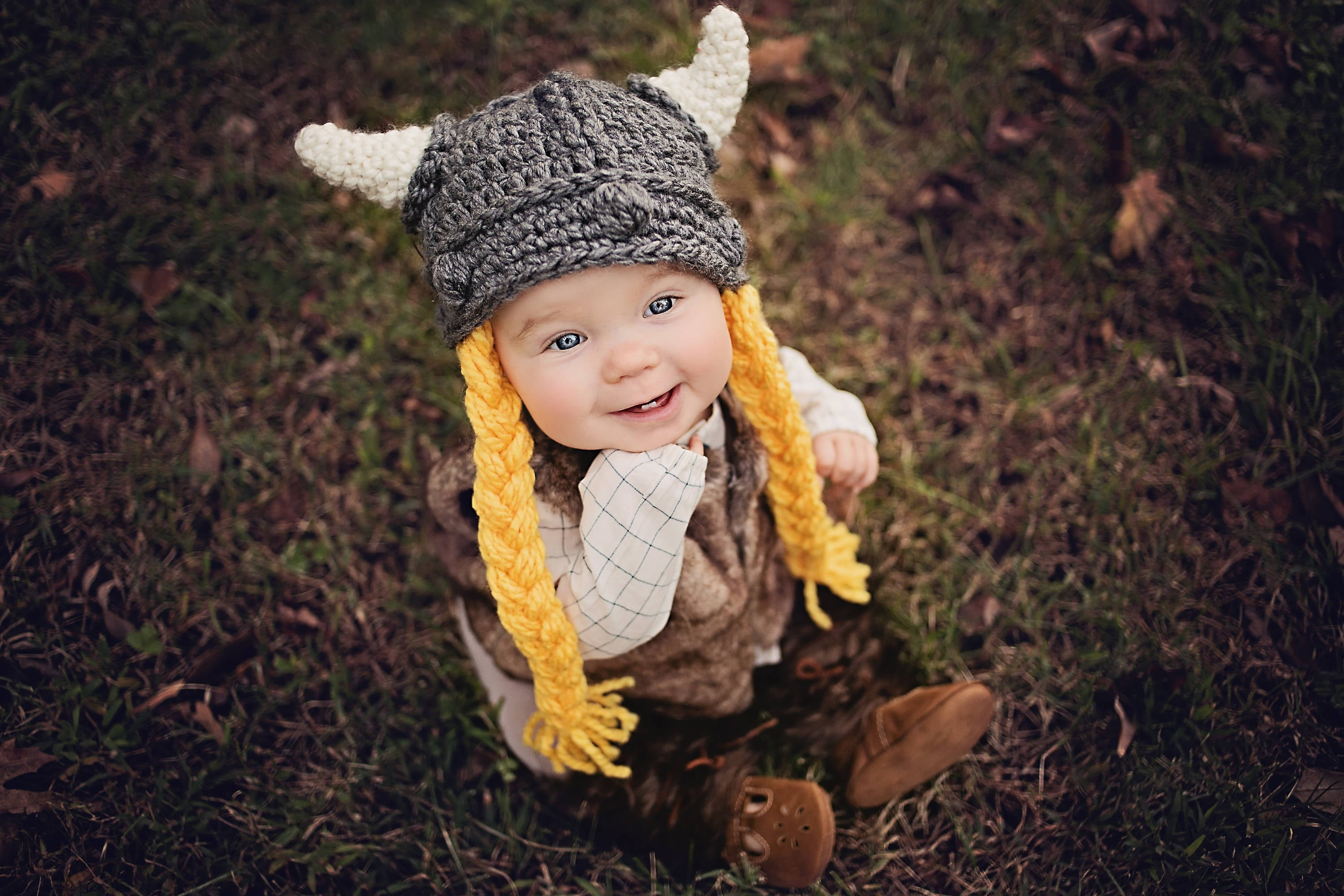 20ac768fb70faf Baby Viking Hat With Beard Pattern
