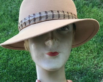 Pirouettes by Adolfo II 100% Wool Hat Saks Fifth Avenue Geo W Bollman Co EXCELLO