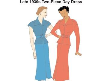 RH1307 — 1930s Day Dress