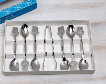 Set of 6 Vintage Bulgarian Collectible Spoons, Russian Serving  collection Stainless Steel wedding, Housewarming, Collectibles, ohtteam