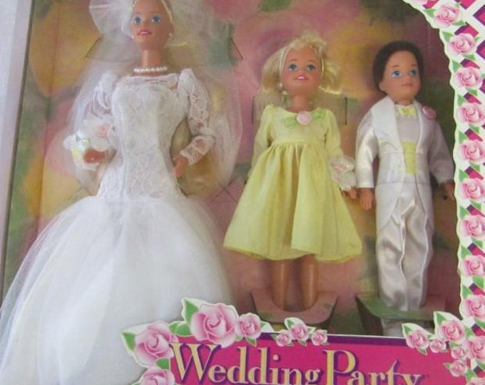 1994 Wedding Party Barbie Deluxe Set. Special Edition. New In Box. With Reduced Shipping