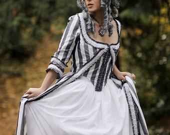 Custom Zone Front 18th Century Rococo Gown MADE TO MEASURE