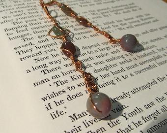 Item 2176 Jasper Copper wire wrapped earrings