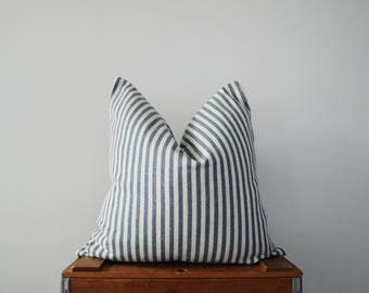 THE TRALEE 20x20 Navy Stripe Pillow Cover