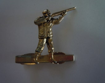 Gold Hickok 1950s Hunting Tie Bar
