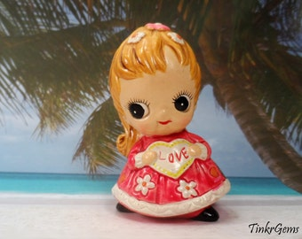1974 Josef Originals, February Birthday Girl, Big Eyes Doll, Figurine