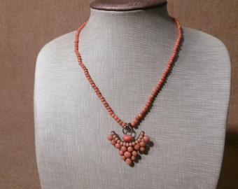 Magnificent Antique Victorian Coral Necklace 14.2 Grams.