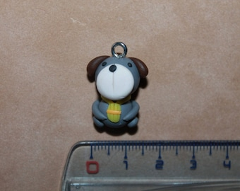 Dog polymer clay bead