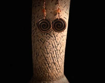 Circles and Swirls Earrings
