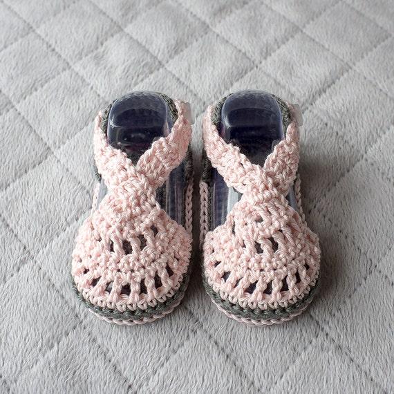 Häkeln Sie babysandalen Baby Mädchen Sandalen