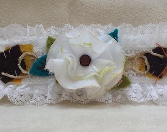 Shabby Romantic Cloth Cuff Bracelet