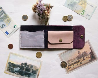 Women Wallet, Purple Wallet, Leather Wallet, Bifold Wallet, Mini Wallet, Small Wallet, Women Bifold Wallet, Women Leather Wallet, Wallet