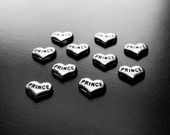 Prince Floating Charm for Floating Lockets-Silver Heart Charm-1 PC-Gift Idea for Women