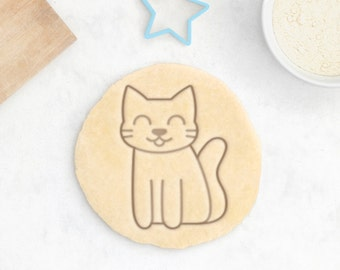 Fluffy Cat Cookie Cutter - Cute Cat Paw Cookie Cutter Crazy Cat Lady Gift Custom Cat Owner Gift Cat Lover Gift Cat Cookies Kawaii Anime Cat