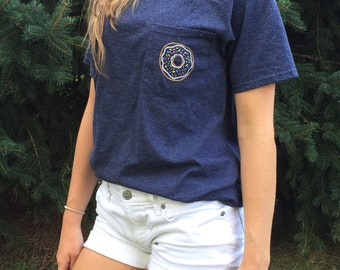 Hand Embroidered Donut Shirt