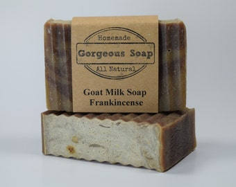 Frankincense Goat Milk Soap - All Natural Soap, Handmade Soap, Homemade Soap, Handcrafted Soap