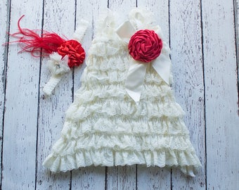 Girls Christmas Dress dress, Thanksgiving Outfit, Ivory Flower Girl Dress, Champagne Lace Dress, Christmas dress, Rustic Flower Girl Dress,