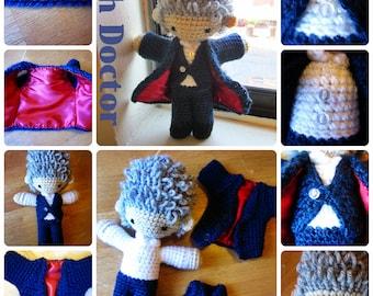Pattern: 12th Doctor Amigurumi Plush w/ Removable Jacket & Vest