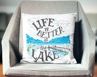 Lake Pillow | Lake Pillow Case | Lake Throw Pillow | Lake Pillow Cover | Lake Cushion | Lake Décor | Lake Gifts