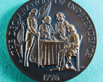 LONGINES-WITTNAUER American Heritage Bronze Medal Set#309: The Declaration Of Independence 1776, 40 mm Mint Condition<>#PSY-293