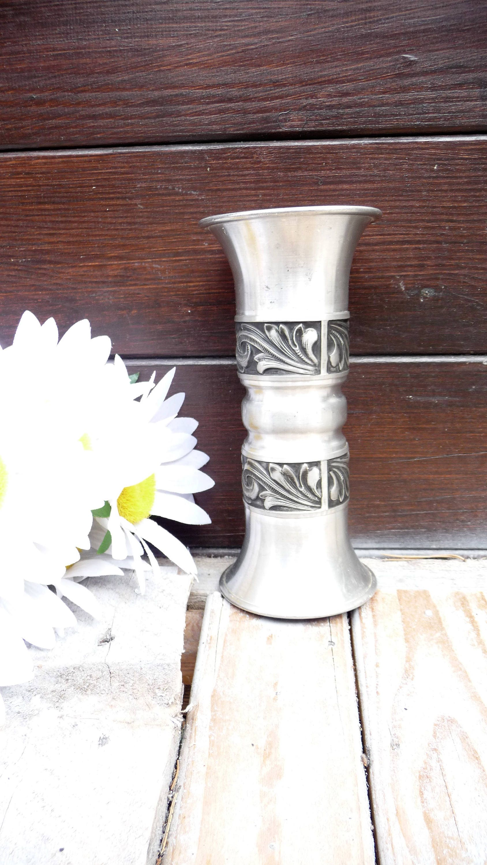 Norwegian pewter vase norsk tinn rosemaling vase norway tin zoom reviewsmspy