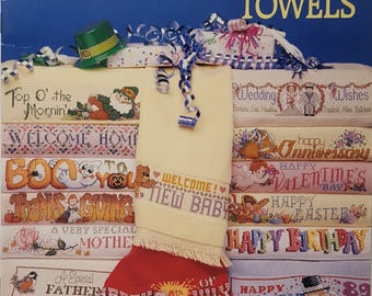 Cross Stitch Special Occasion Towels Instruction Booklet